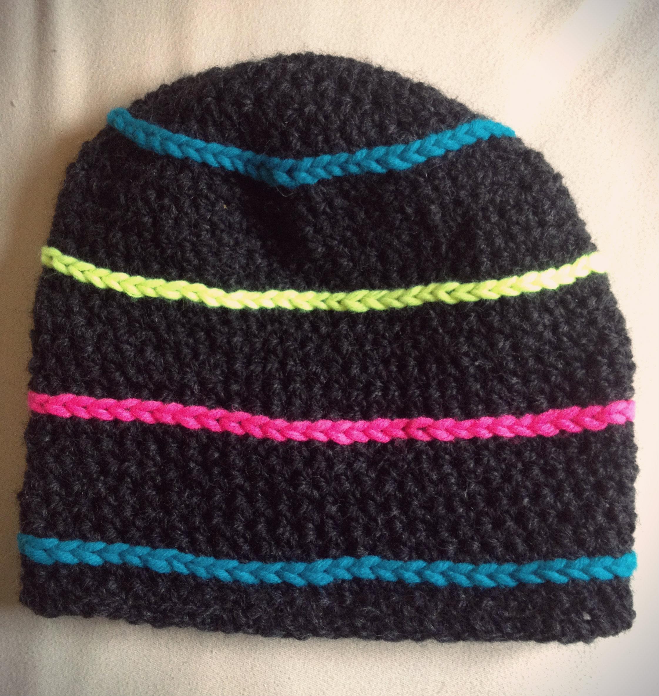 Mütze mit Neon Ringel