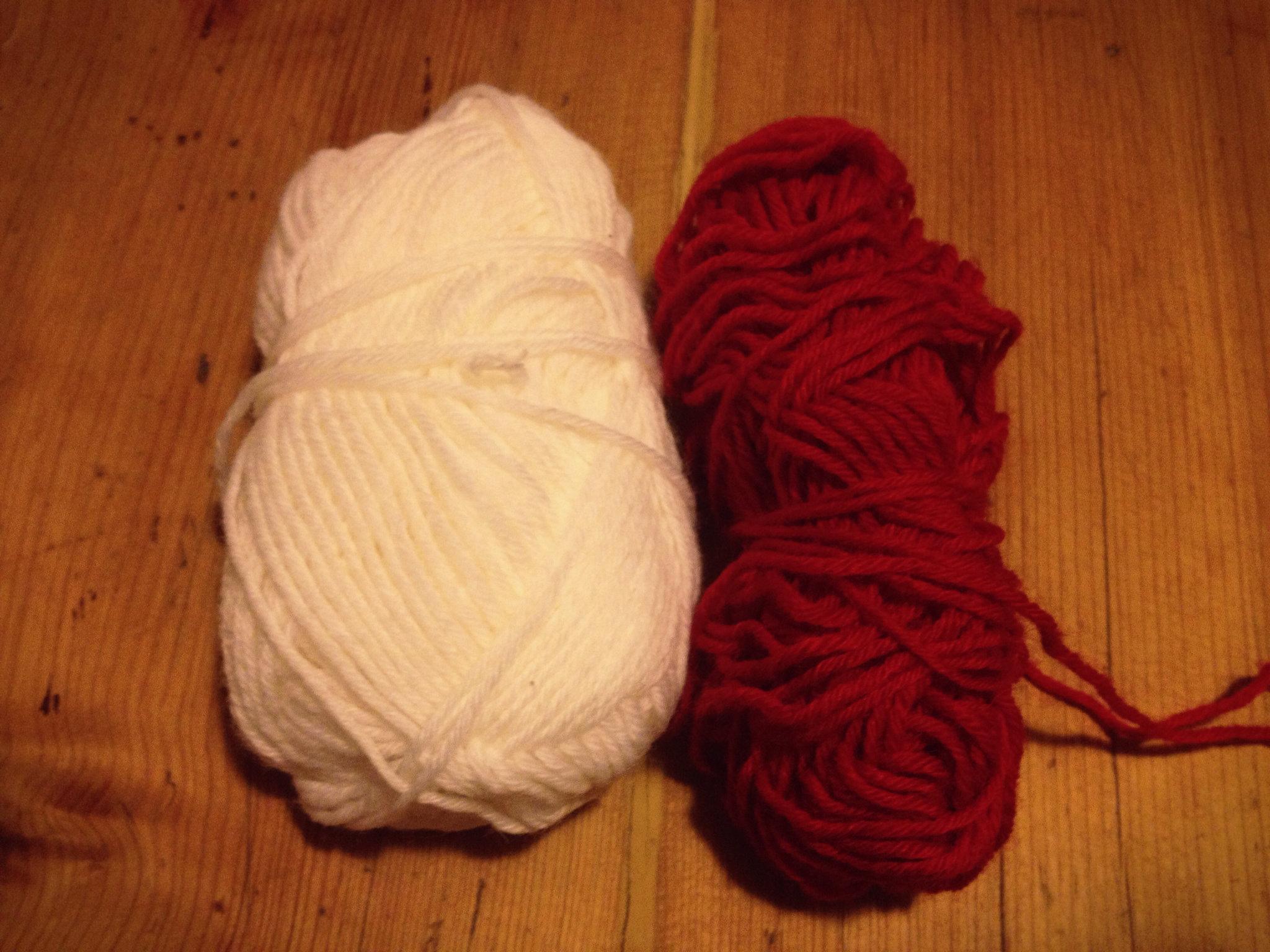 Wolle für die Stulpen
