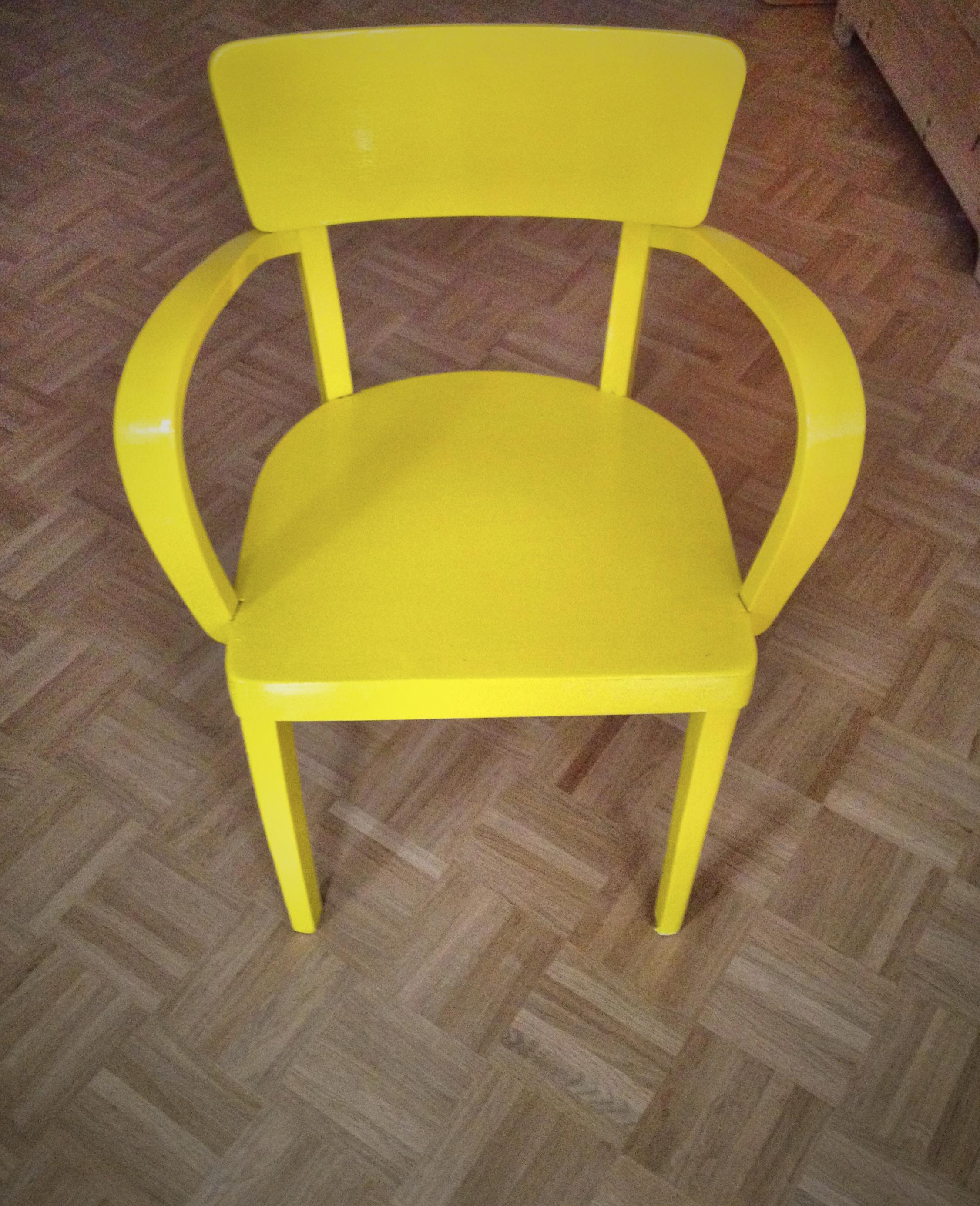 Mein Neuer Sonnengelber Stuhl Strickstern