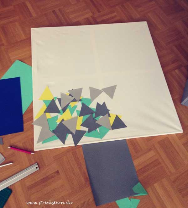Dreiecke ausschneiden