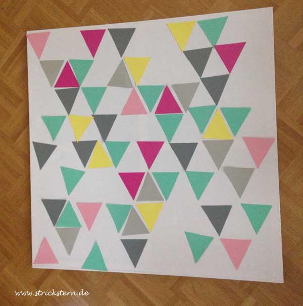 dreiecke aufkleben