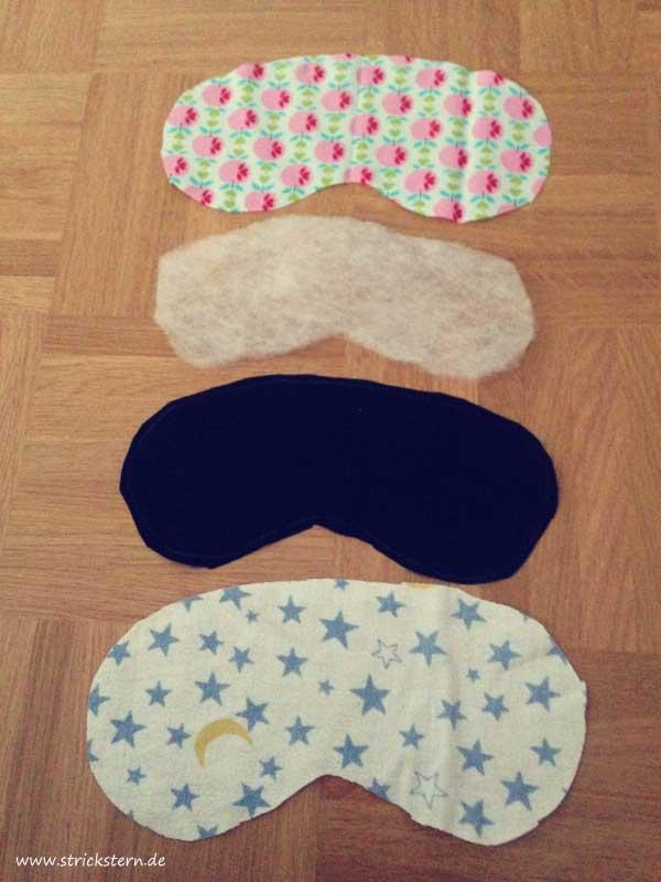Schlafmaske nähen - Zuschneiden