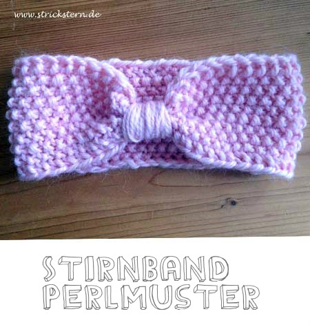 Stirnband stricken