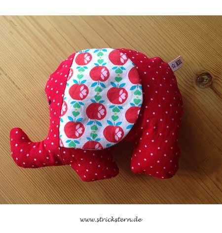 Ein Kuscheltier nähen: Dicker Elefant - Strickstern