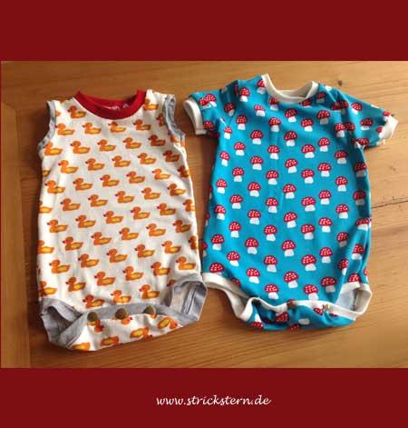 Babybodys nähen in vielen bunten Mustern - Strickstern