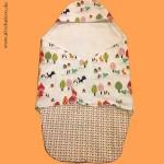 Einschlagdecke nähen für Maxi Cosi / Babyschale
