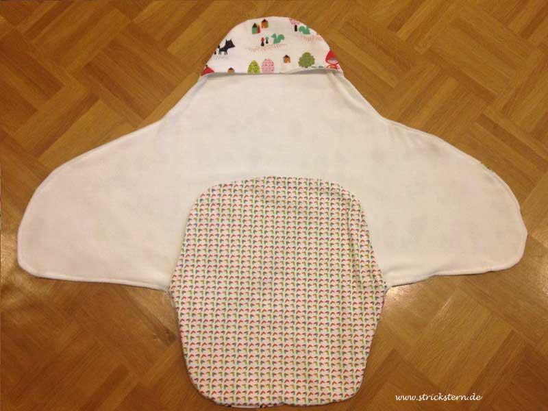 Einschlagdecke nähen für maxi cosi babyschale strickstern