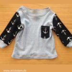Babyshirt mit Knopfleiste nähen – Basic Schnitt