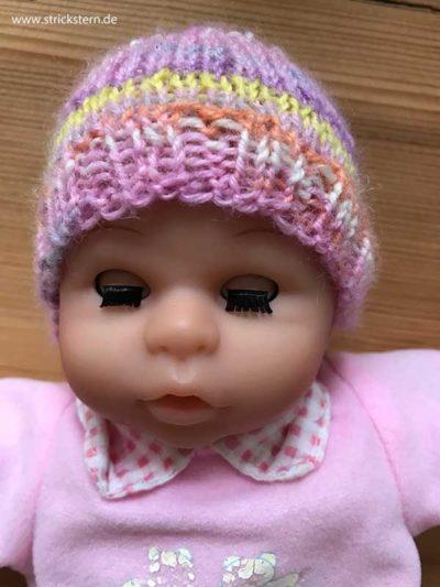 Puppenmütze stricken